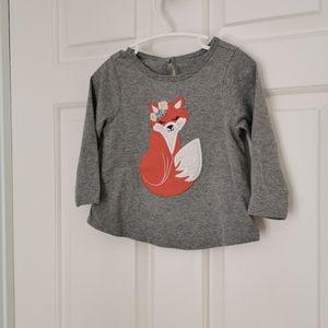 3/$15 George longsleeve fox shirt
